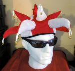 JESTER HAT : RED & WHITE